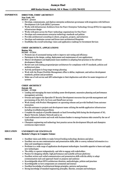 chief architect resume 12 useful materials for chief software