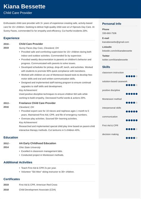 Example Cover Letter For Child Care Teacher Voluntary Action Orkney Provider Resume Samples