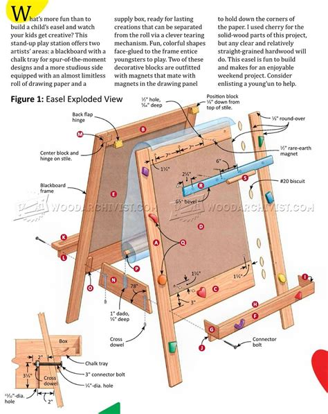 Childrens Easel Plans