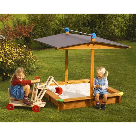 Childrens Sandbox With Cover