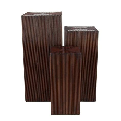 Chipping Sodbury 3 Piece Rustic Pedestal Plant Stand Set