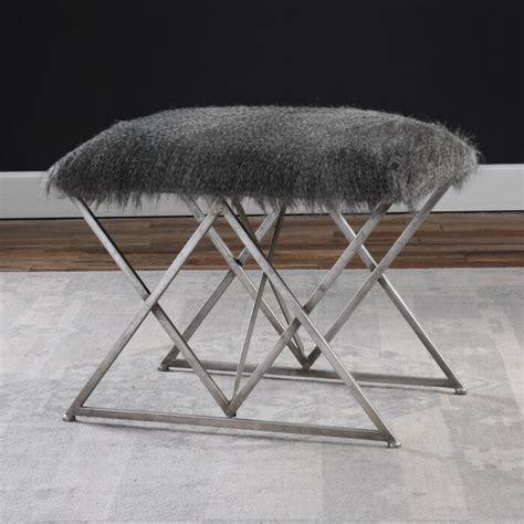 Chisley Fur Vanity Stool