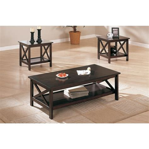 Chittum Modish 3 Piece Coffee Table Set