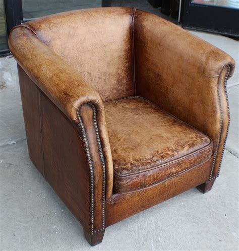 Chocolate Brown Leather Chair  Ebay.