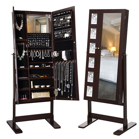 Christeen Free Standing Jewelry Armoire with Mirror