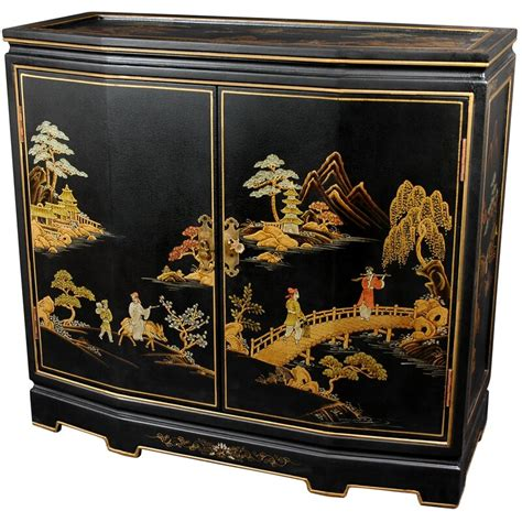 Christiane Japanese Slant Front Accent Cabinet