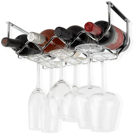 chrome wine glass rack shelf