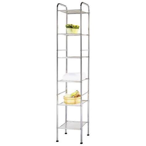 Chrome 12.75 W x 63 H Bathroom Shelf