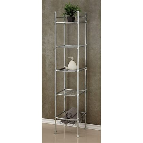Chrome 13 W x 63 H Bathroom Shelf