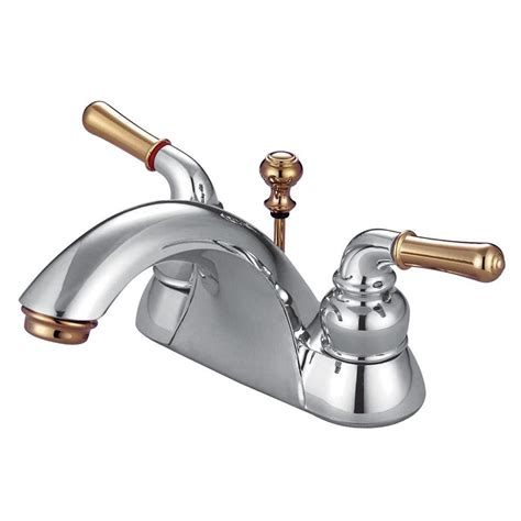 Brass Chrome And Brass Bathroom Faucets.