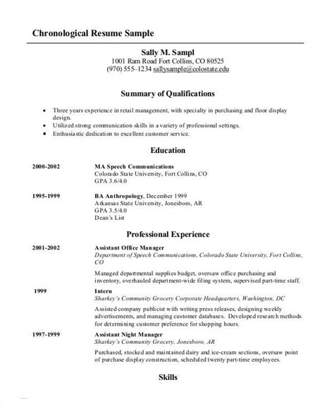 chronological resume overlapping dates cover letter examples for - Fishing Resume Template