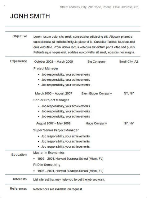 chronological resume template monster chronological resume template 23 free samples examples