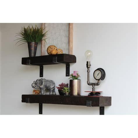Chumbley Made Chunky Reclaimed Barn Wood 2 Piece Wall Shelf Set