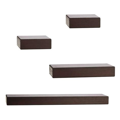 Chunky Ledge 4 Piece Floating Shelf Set