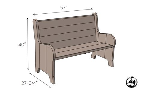 Church Pew Woodworking Plans
