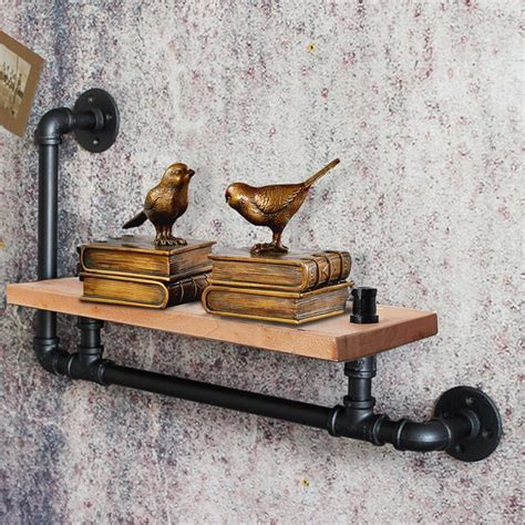 Cintron Industrial Floating Pipe Wall Shelf