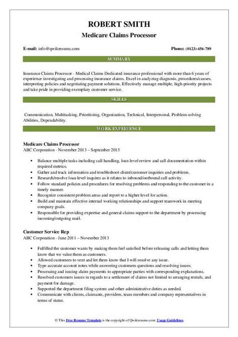 medical claims processor resume claims processor sample resume with objective