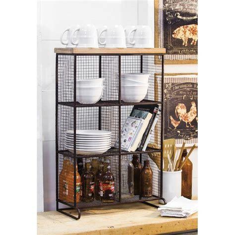 Clairlea Wire Mesh 6 Bin Cube Unit bookcase
