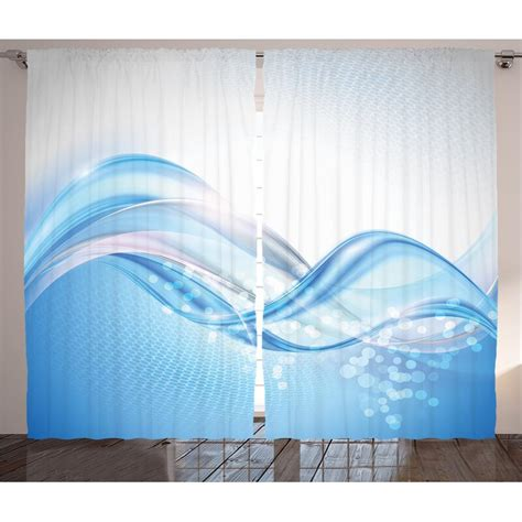 Clarine Modern Graphic Print and Text Semi-Sheer Rod Pocket Curtain Panels (Set of 2 by
