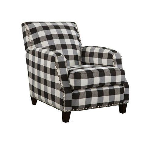 Clarkesville Black and White Plaid Armchair