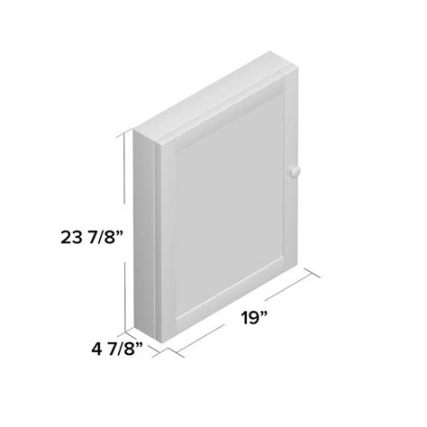 "Clarkfield 19"" x 23.88"" Surface Mount Framed Medicine Cabinet with 2 Adjustable Shelves"
