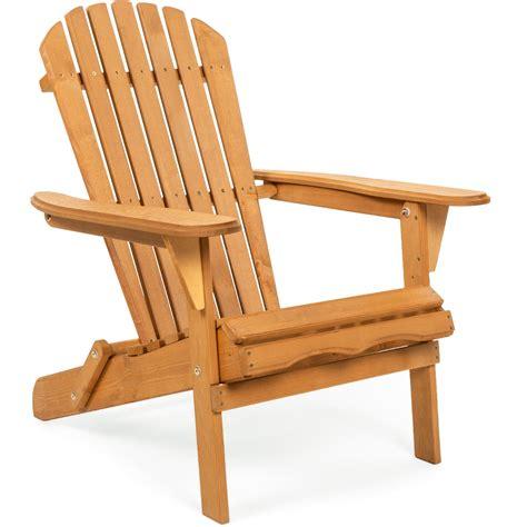 Classic Wood Folding Adirondack Chair