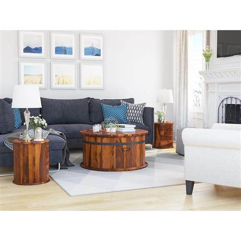 Claude 3 Piece Coffee Table Trunk Set