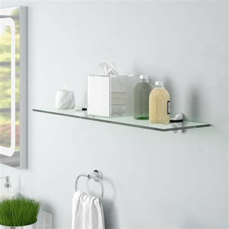 Clear Tempered Glass Floating Shelf