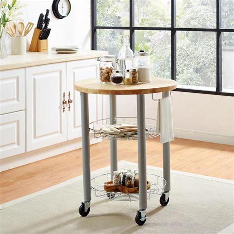 Cleo Wooden Kitchen Cart