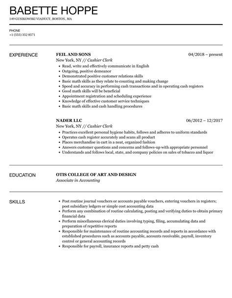 clerk cashier resume sales clerk resume sample - Sample Resume For Cashier