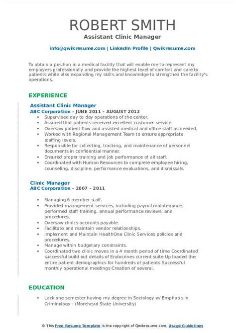 resume samples for salon managers clinic manager resume samples jobhero