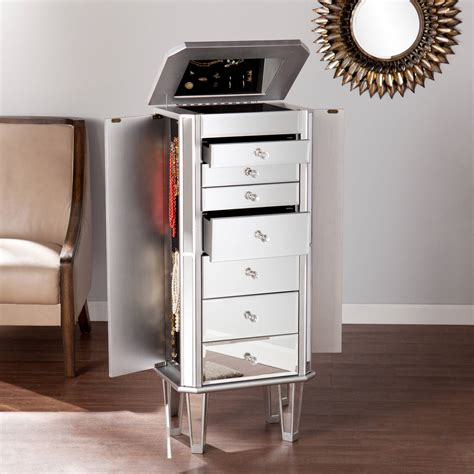 Clipper Jewelry Armoire with Mirror