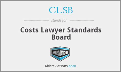 Cost Lawyers Standards Board Clsb Costs Lawyer Standards Board >> Authorised Costs