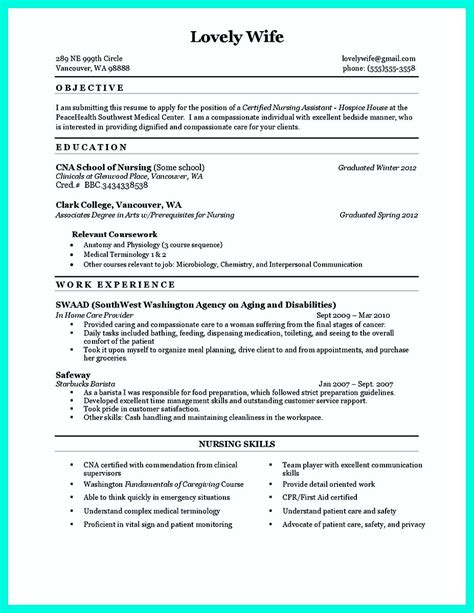 sample nursing resume no experience cna resume sample career enter
