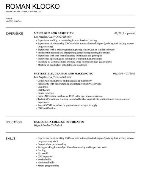 cnc machinist resume template machinist resume best sample resume - Cnc Machinist Resume Samples