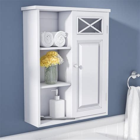 Coddington with Single Door and Shelves 20 W x 25 H Wall Mounted Cabinet