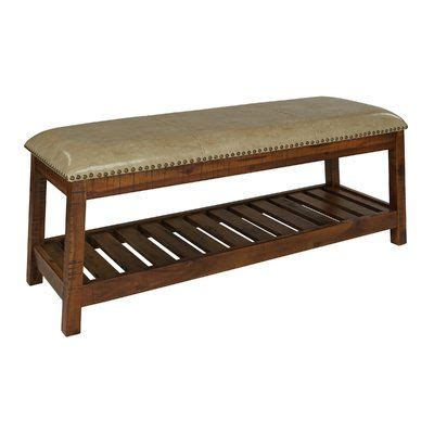 Cogar Faux Leather Bench