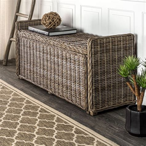 Colebrook Woven Storage Bench