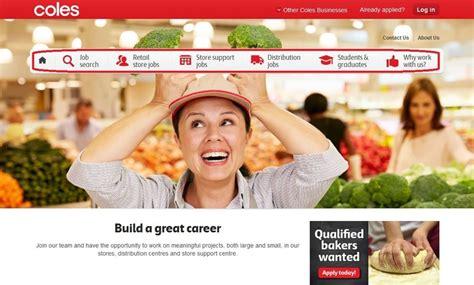 Coles Job Application Form Online Australia Coles Retail Online Invalid Order