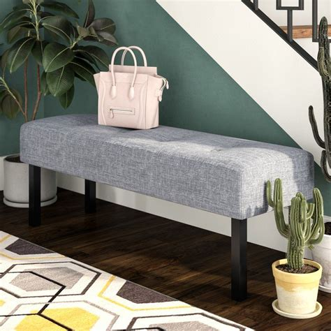 Colin Upholstered Memory Foam Bench
