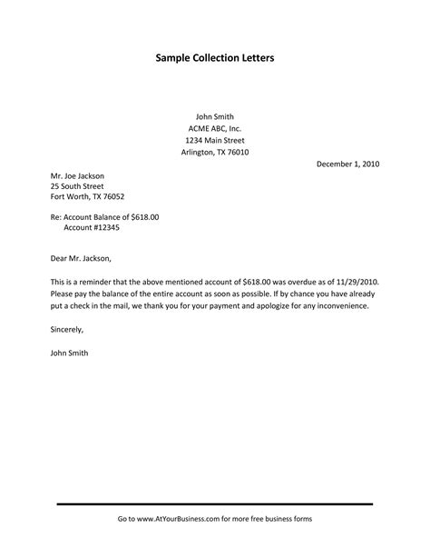 Sample collection letter payment cursive letters s sample collection letter payment collection letter samples thecheapjerseys Images