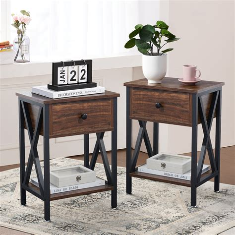 Colleen End Table with Storage (Set of 2)