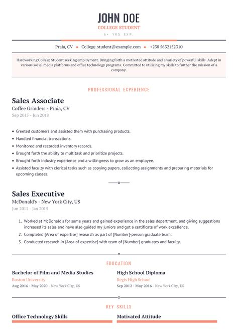 resume templates recent college graduate college resume template for students and graduates - Resume Templates For Recent College Graduates
