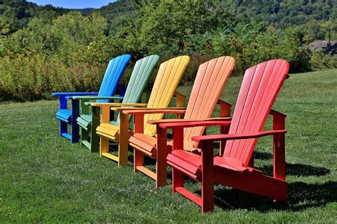 Colored Adirondack Chairs