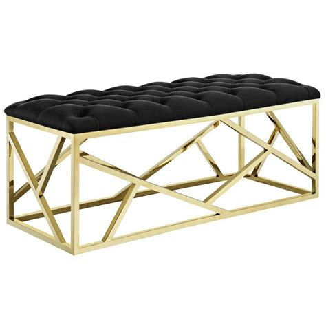 Colworth Upholstered and Metal Bench