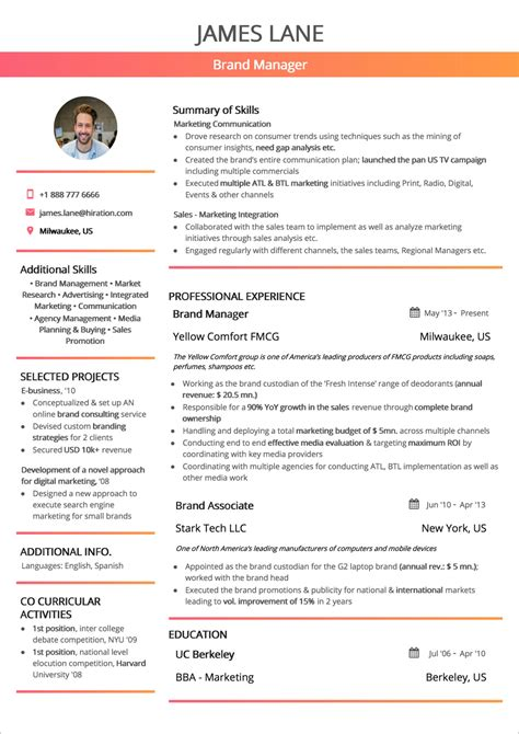Combination Resume Format Word Resume Template 92 Free Word Excel Pdf Psd Format