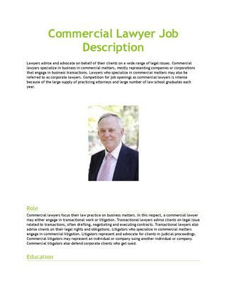 Commercial Lawyer Duties Commercial Lawyer Job Description By Amyhiggins444 Issuu