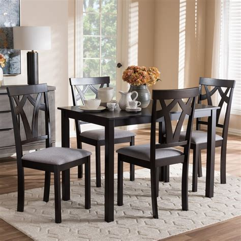 Commodore-Singh Modern and Contemporary 5 Piece Breakfast Nook Dining Set