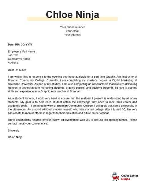 community pharmacist cover letter teacher cover letter example and writing tips the balance - Pharmacist Cover Letter