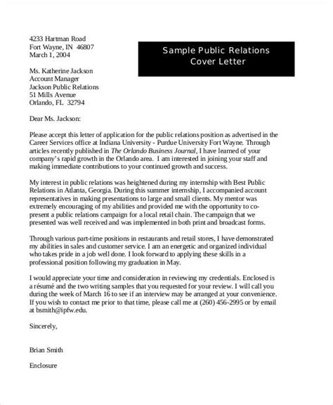 community relations cover letters